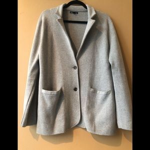 J. Crew Sweater Blazer In Heather Gray.